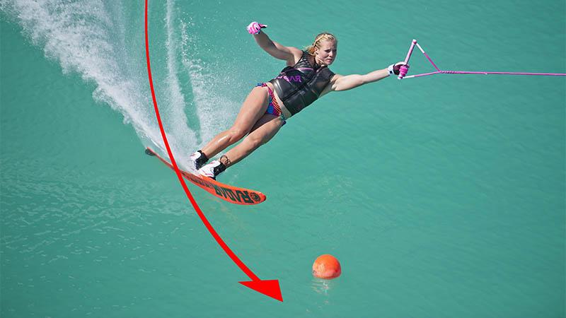water ski smear