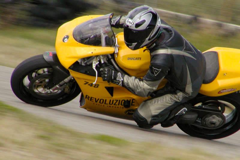 Jay on Ducati 853 race bike