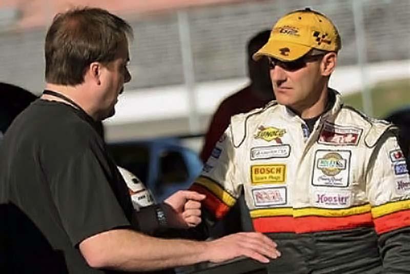 driver debrief at Daytona