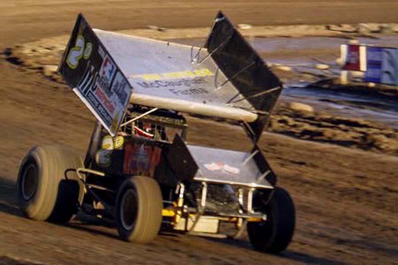 Jay's first sprint car win